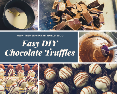 diy chocolate truffles collage