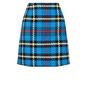 blue-bouclé-check-mini-skirt-