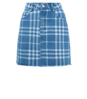 blue-check-denim-mini-skirt