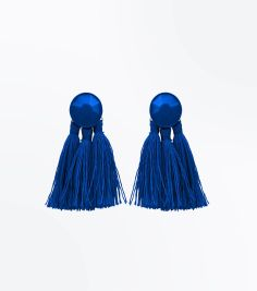 blue-tassel-coated-stud-earrings
