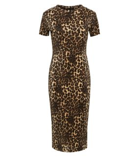 cameo-rose-brown-leopard-print-plissé-midi-dress