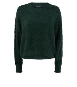 dark-green-long-sleeve-fluffy-jumper