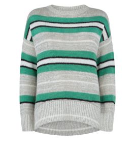 green-stripe-knitted-jumper