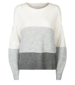 jdy-light-grey-colour-block-knit-jumper