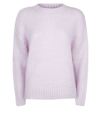 lilac-chunky-knit-slouchy-jumper