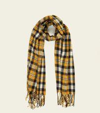 mustard-check-print-scarf-