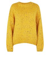 mustard-nep-knit-slouchy-jumper