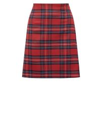 red-check-print-a-line-mini-skirt