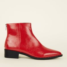 red-patent-stud-trim-pointed-ankle-boots