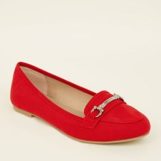 red-suedette-bar-front-loafers