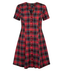 red-tartan-check-button-through-tea-dress