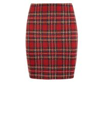 red-tartan-jersey-tube-skirt-
