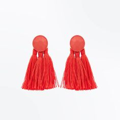 red-tassel-coated-stud-earrings