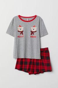 H and M pyjama short set