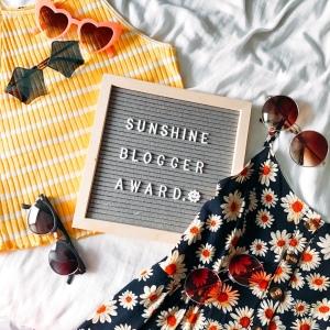 Sunshine Blogger Award photo