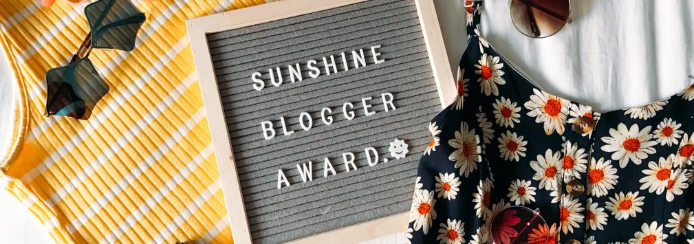 Sunshine blogger award banner