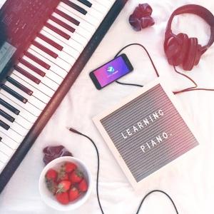 Learning Piano Flatlay