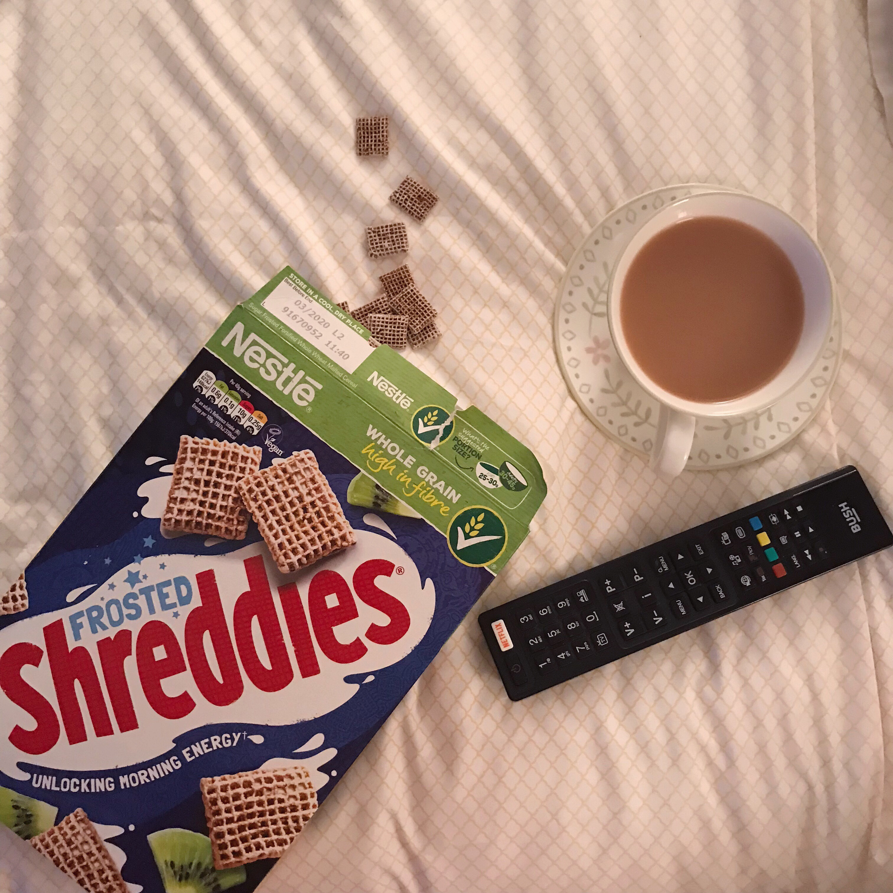 snacks in bed