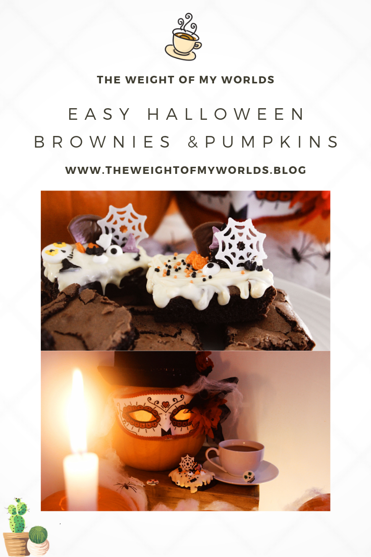 Halloween pumpkins brownies pin
