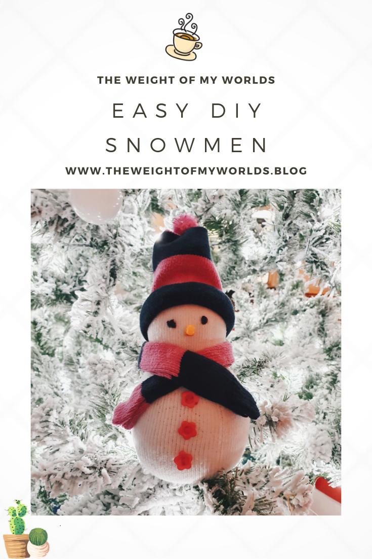 Handmade Snowmen Pin