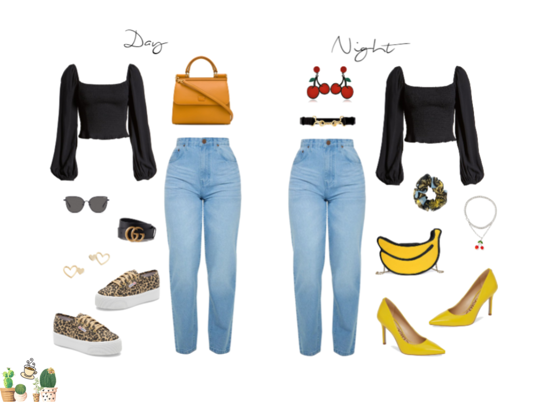 Day to Night Mom Jeans Look