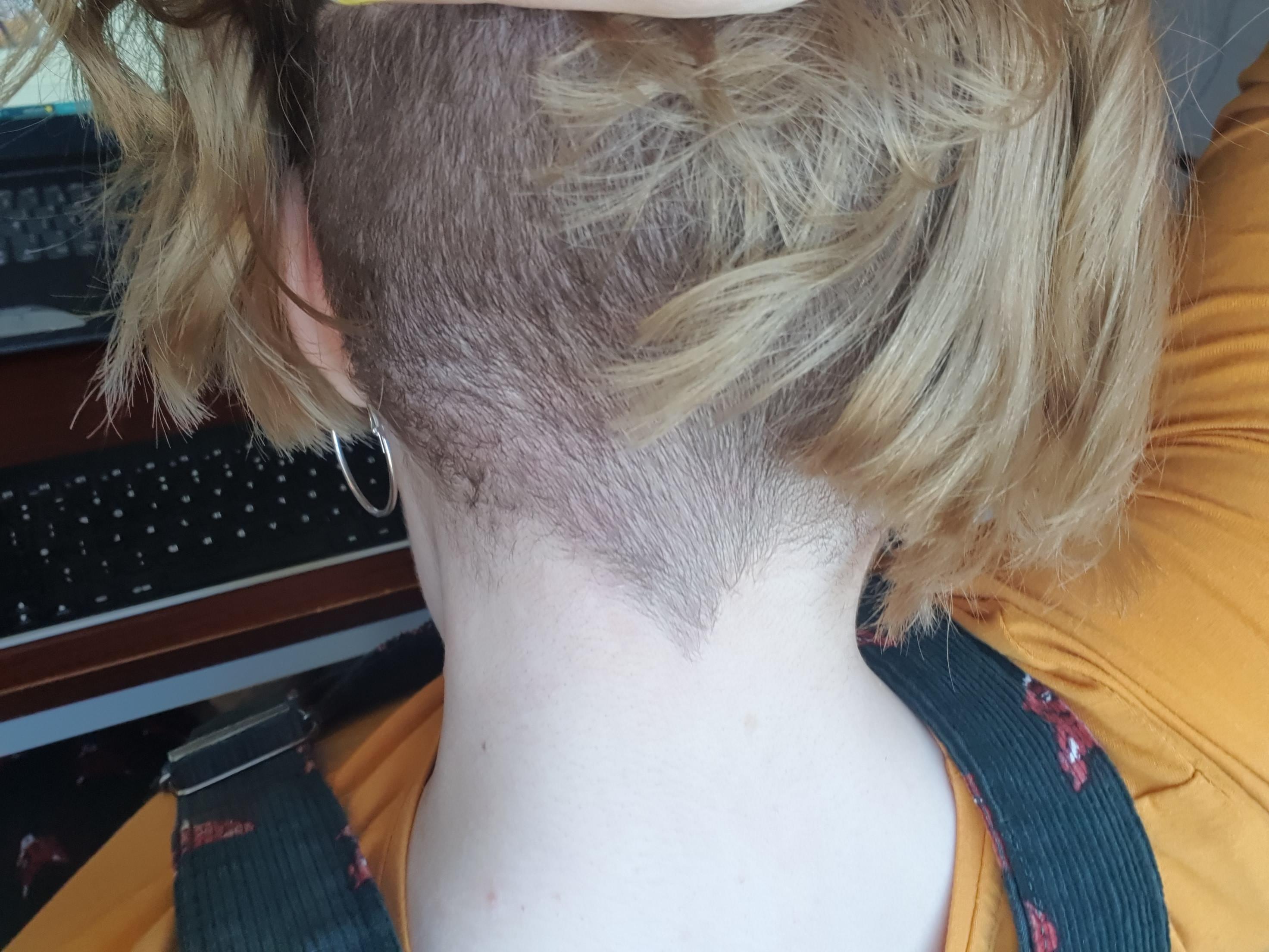 Half shaved