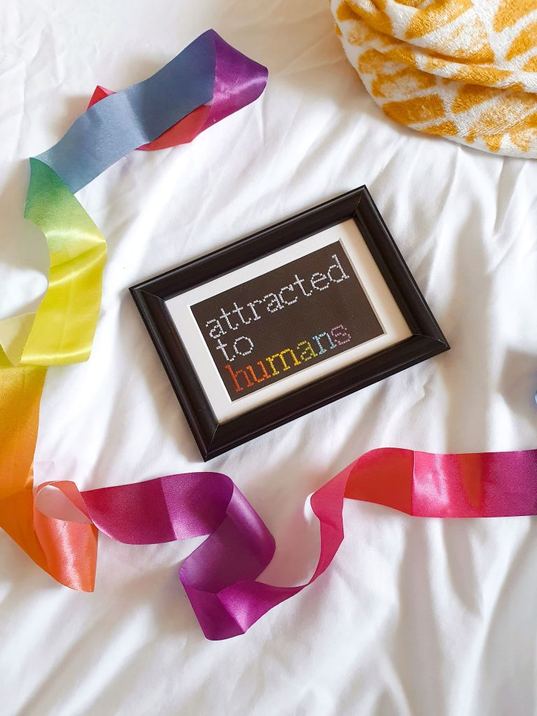 Attracted to humans crossstitch