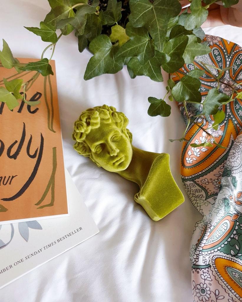 Green Velvet bust